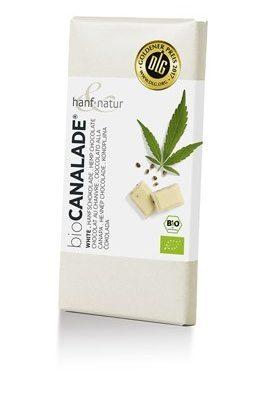 CANALADE : chocolat blanc et graines de chanvre alimentaire le cbd france