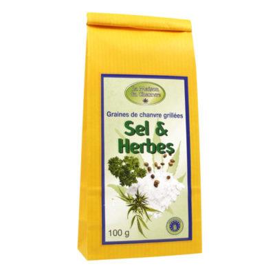 graines-de-chanvre-grillees-sel-herbes-bio-100g le cbd france