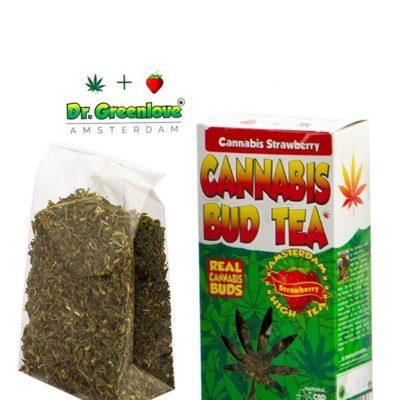 Thé au cannabis goût fraise