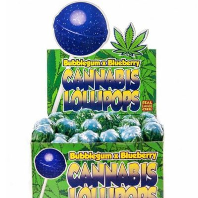 Cannabis lollipops blueberry alimentaire le cbd france