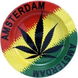 Cendrier métal rond Amsterdam accessoires le cbd france