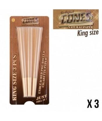Cones naturel King size X3 accessoires le cbd france