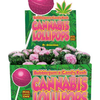 Sucette Cannabis Kandy Kush X Bubble gum alimentaire le cbd france