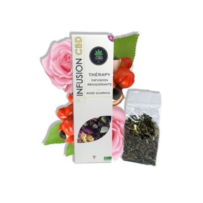 Alimentaire-Infusion-Thérapy-Rose-Guarana -CBD-France