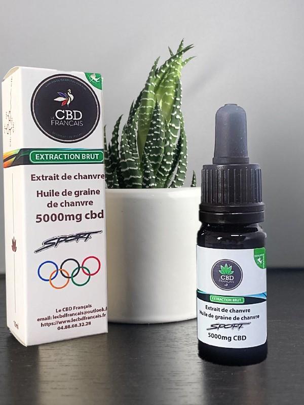 Huile CBD 50% Sport parapharmaceutique le cbd france